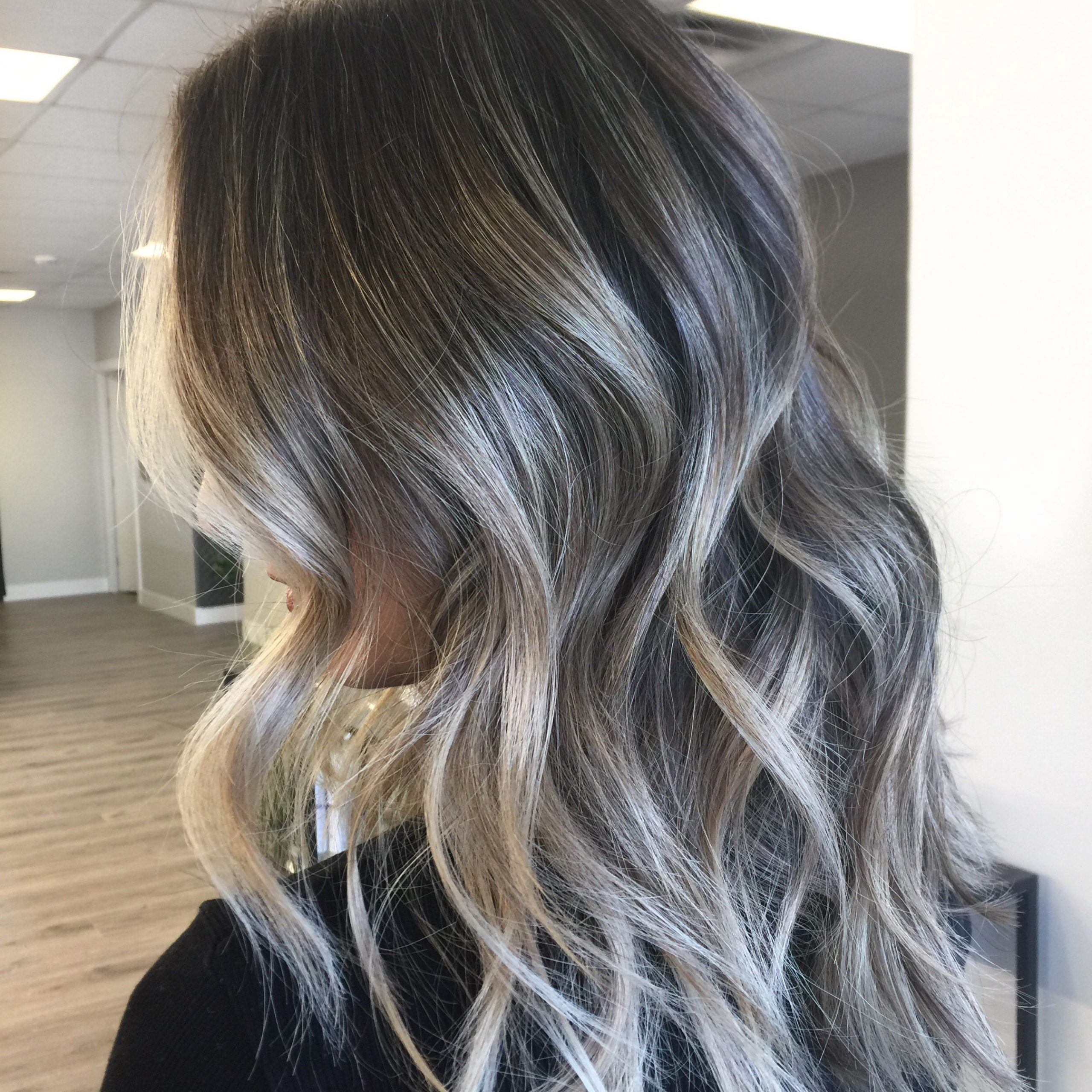Featured Photo of Ash Blonde Balayage Ombre On Dark Hairstyles