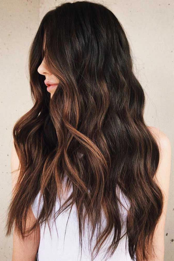 Chestnut Brown Highlights #blackhair #highlights Do You With Regard To Chestnut Short Hairstyles With Subtle Highlights (View 2 of 20)