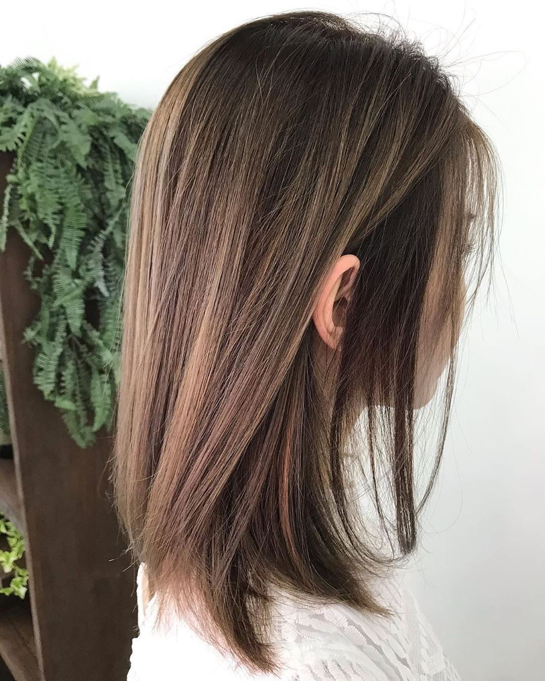 Chestnut Brown With Some Touch Of Honey Brown Highlight Regarding Chestnut Short Hairstyles With Subtle Highlights (View 5 of 20)