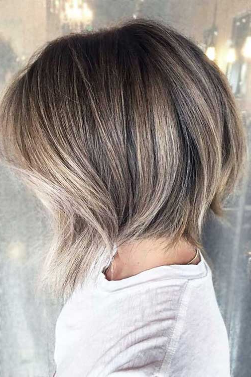 Chic Ideas About Short Ash Blonde Hairstyles   Short In Shaggy Bob Hairstyles With Blonde Balayage (View 12 of 20)