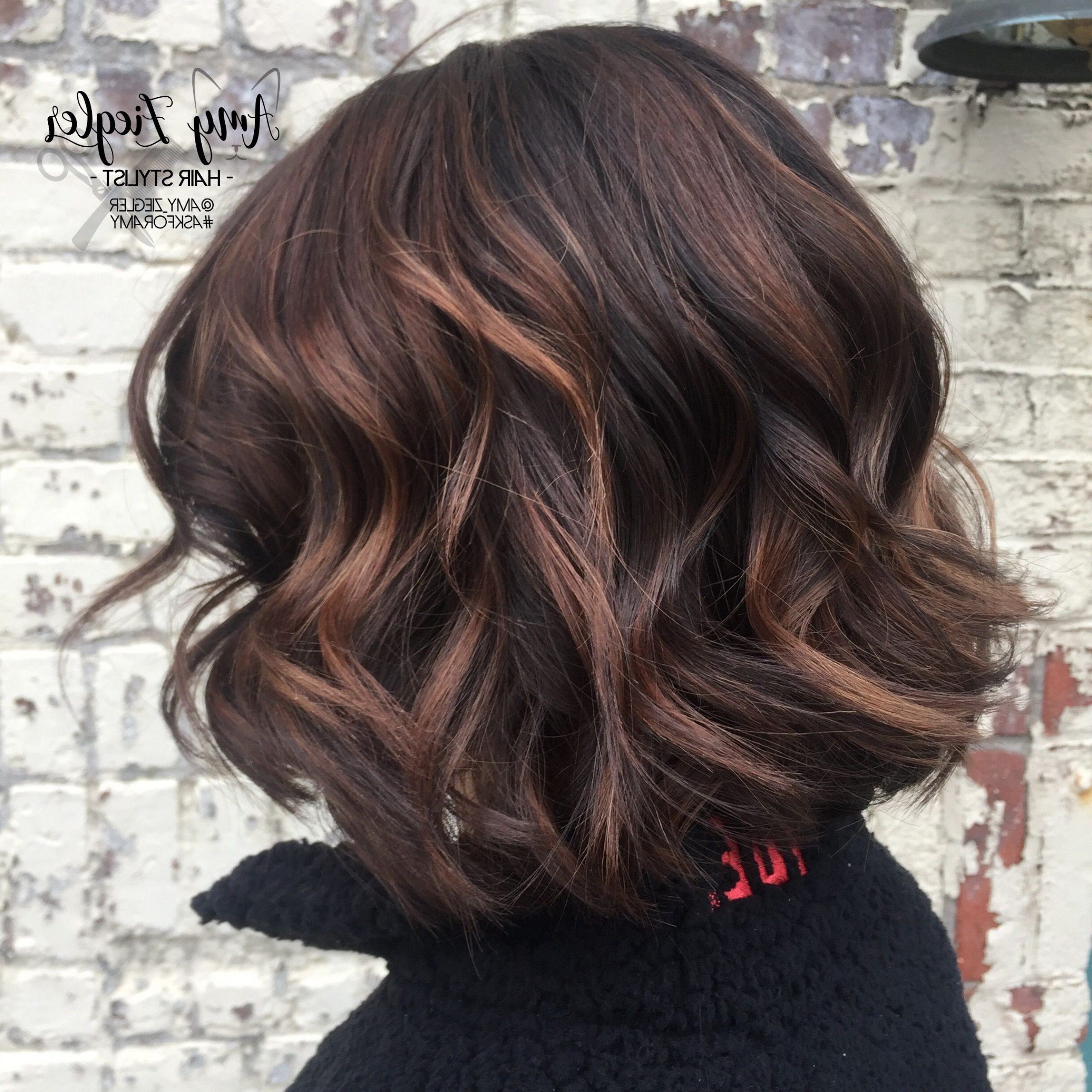 Chocolate Balayage On Short Hair@amy Ziegler # Intended For Blonde Balayage Hairstyles On Short Hair (View 3 of 20)