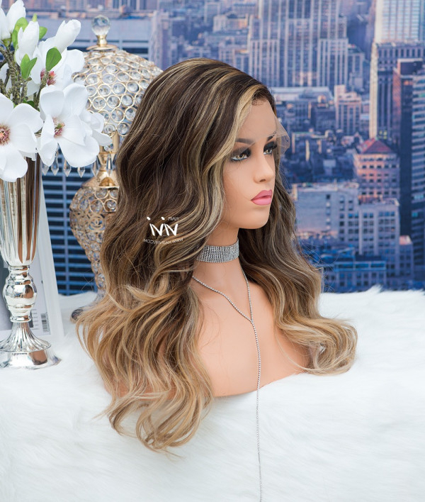 Cici Ombre Balayage Wig Beach Waves – Online Human Hair Within Beachy Waves Hairstyles With Balayage Ombre (View 18 of 20)