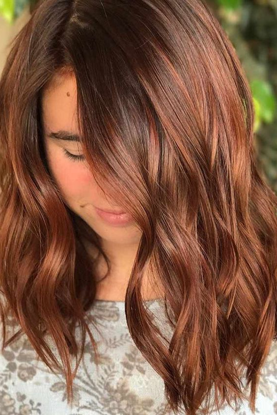Cinnamon Hair Color Trend:30 Of The Best Cinnamon Hairstyles Throughout Cinnamon Balayage Bob Hairstyles (View 13 of 20)