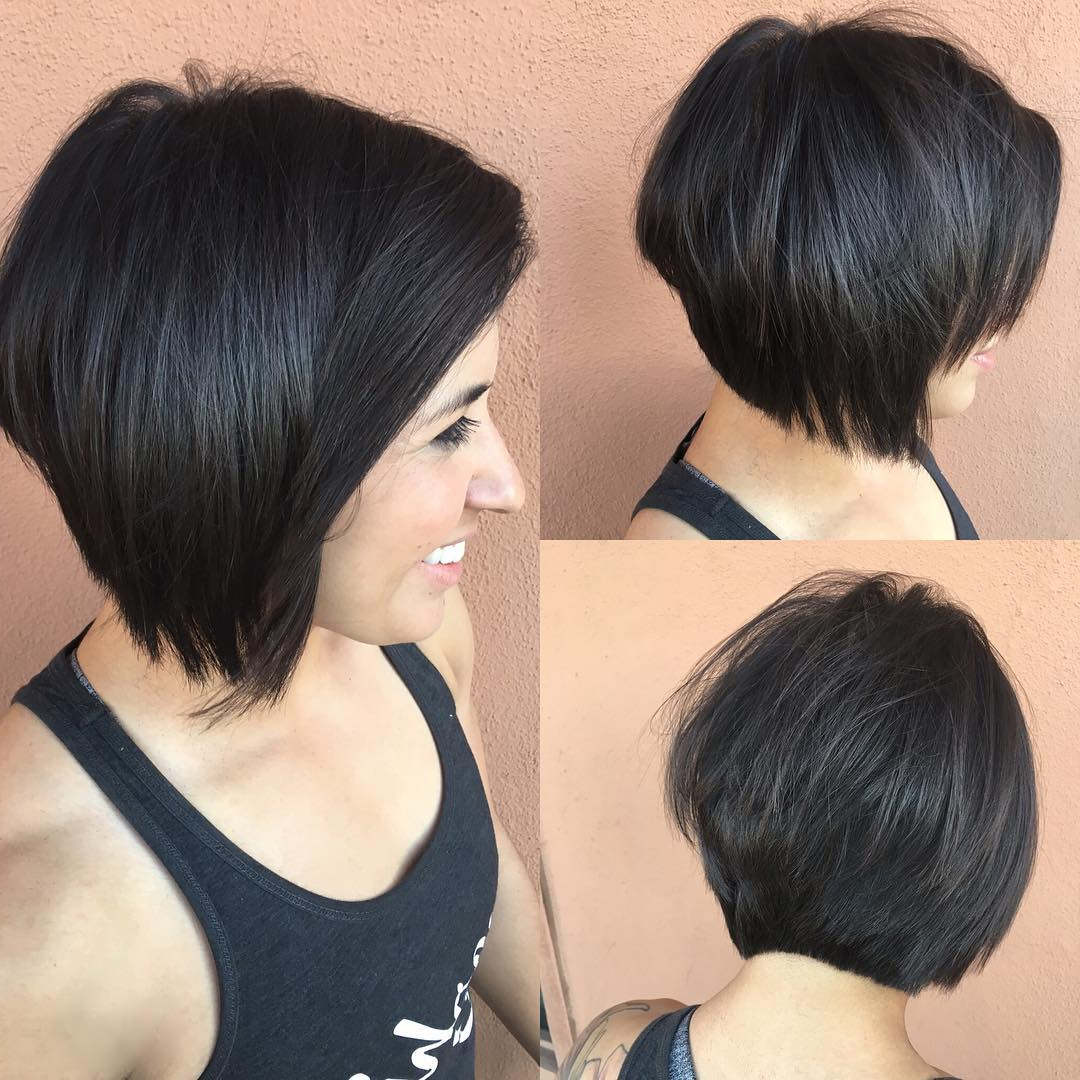 Concave Bob With Face Framing Layers – The Latest For Most Popular Lob Hairstyles With Face Framing Layers (View 18 of 20)