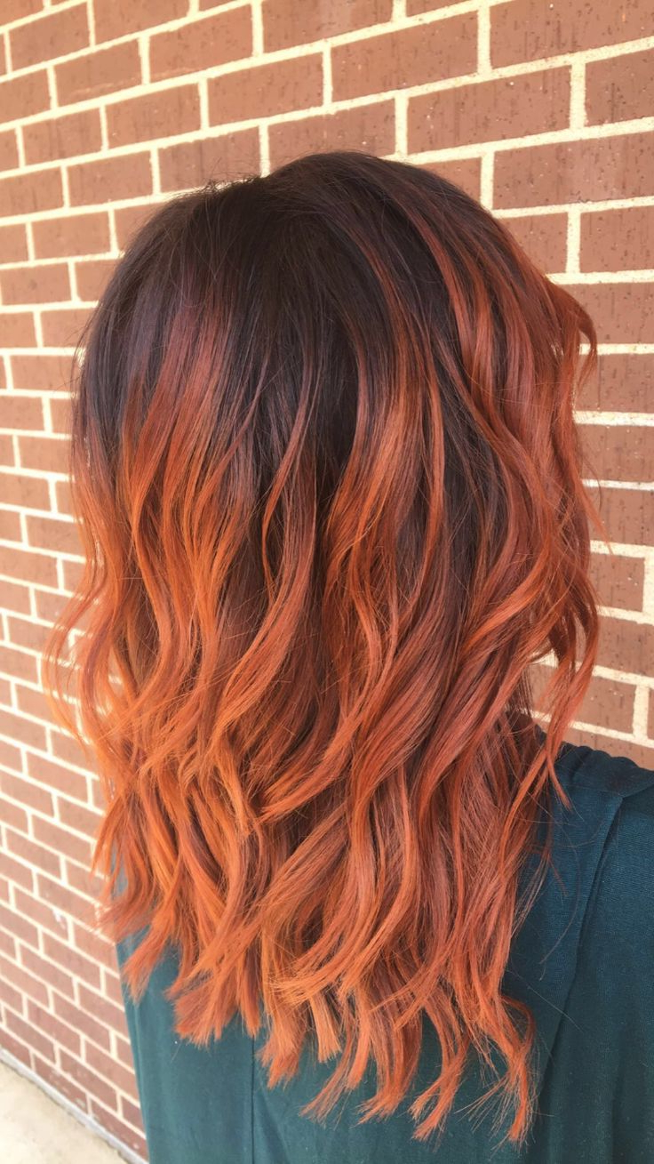 Copper Red Balayage   Orange Ombre Hair, Red Balayage Hair With Bright Red Balayage On Short Hairstyles (View 10 of 20)
