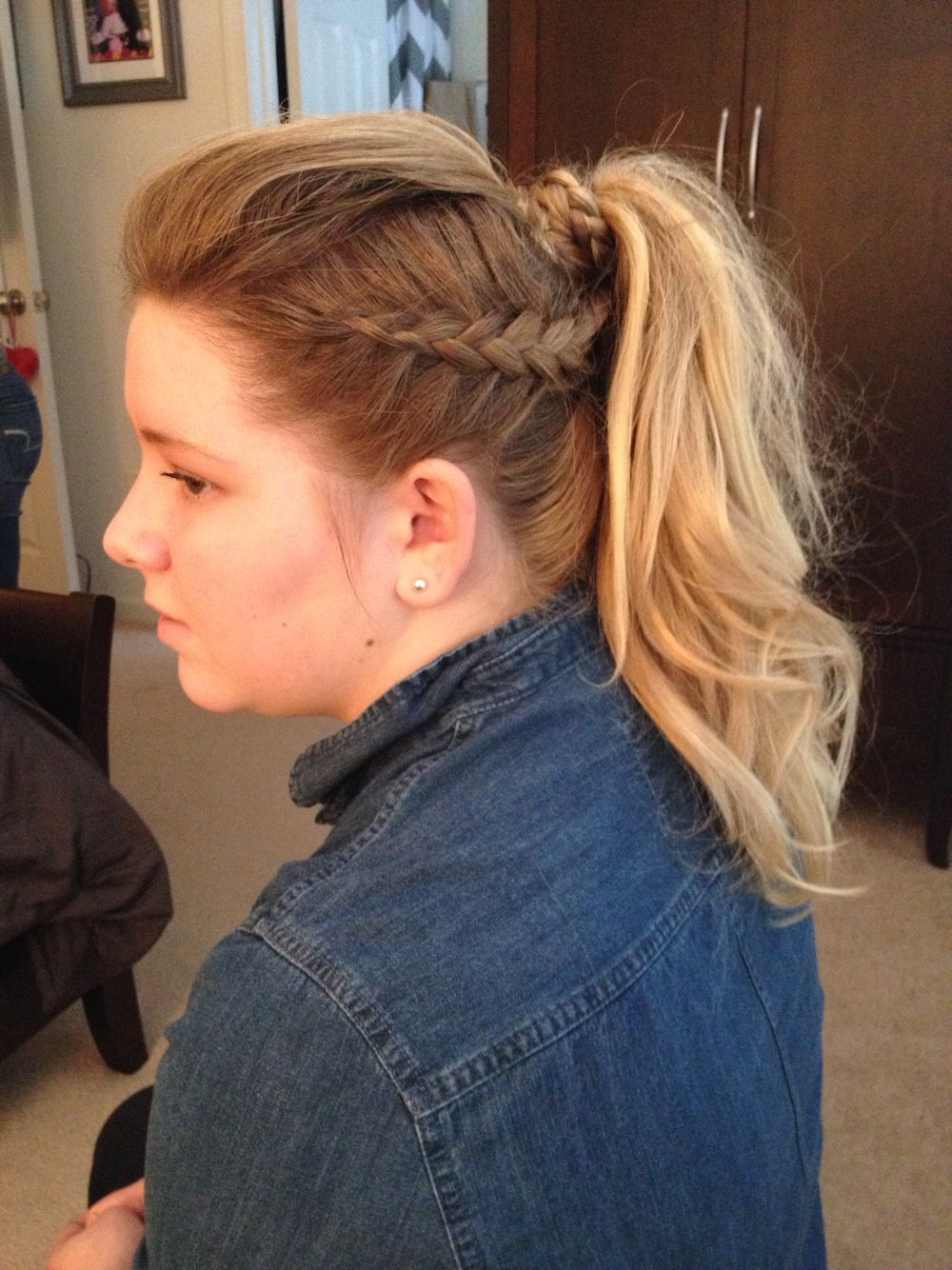 Curly Girl, Hair, Hair Styles For Most Current Gray Faux Hawk Hairstyles (View 6 of 20)