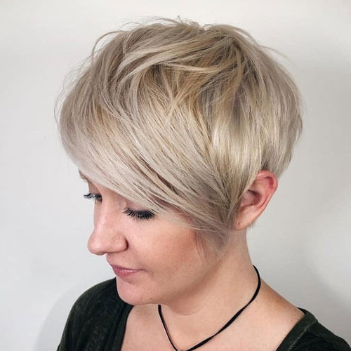 Current Asymmetrical Pixie Hairstyles With Pops Of Color In Short Asymmetrical Pixie Haircuts – 35+ (View 5 of 20)