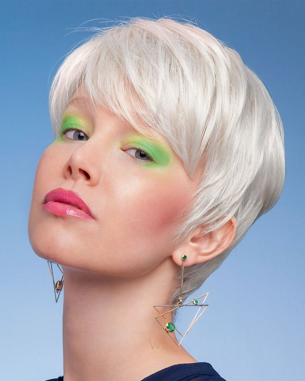 Current Gray Short Pixie Cuts Throughout Ultra Short Hairstyles + Pixie Haircuts & Hair Color Ideas (View 1 of 20)