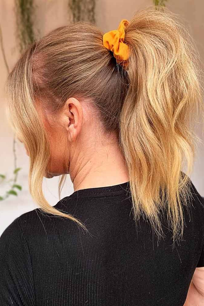 Current Scrunchie Hairstyles Pertaining To Adorable Hair Scrunchies And Styles That You Can Do With (View 7 of 20)