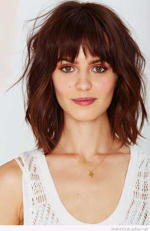 Current Short Messy Bangs Hairstyles Regarding 50 Best Bob Hairstyles With Bangs (View 3 of 20)