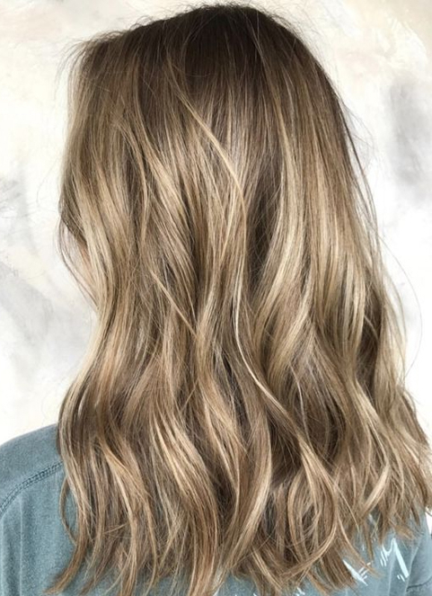 Dark Blonde Balayage Hair Color Ideas For Medium Intended For Blonde Balayage On Short Dark Hairstyles (View 13 of 20)