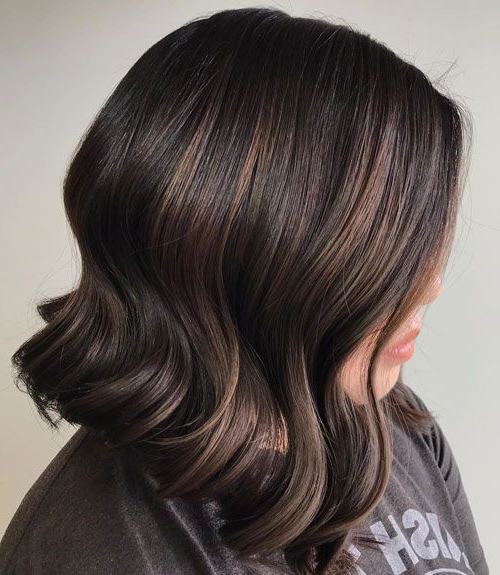 Dark Brown Hair With Subtle Highlights In 2020   Brown In Chestnut Short Hairstyles With Subtle Highlights (View 14 of 20)
