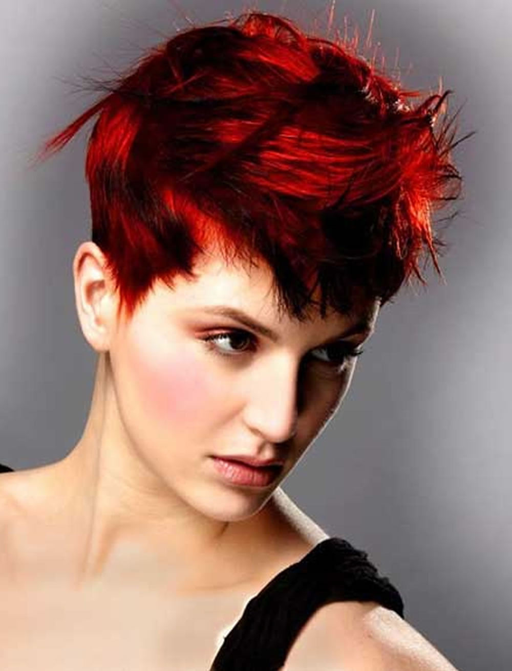Dashing Red Hair Short Pixie Hairstyles For Long Faces For Pixie Hairstyles With Red And Blonde Balayage (View 16 of 20)