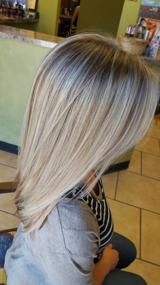 Dimensional Blonde Hair, Chocolate Low Lights, Icy Blonde Inside Layered Dimensional Hairstyles (View 12 of 20)