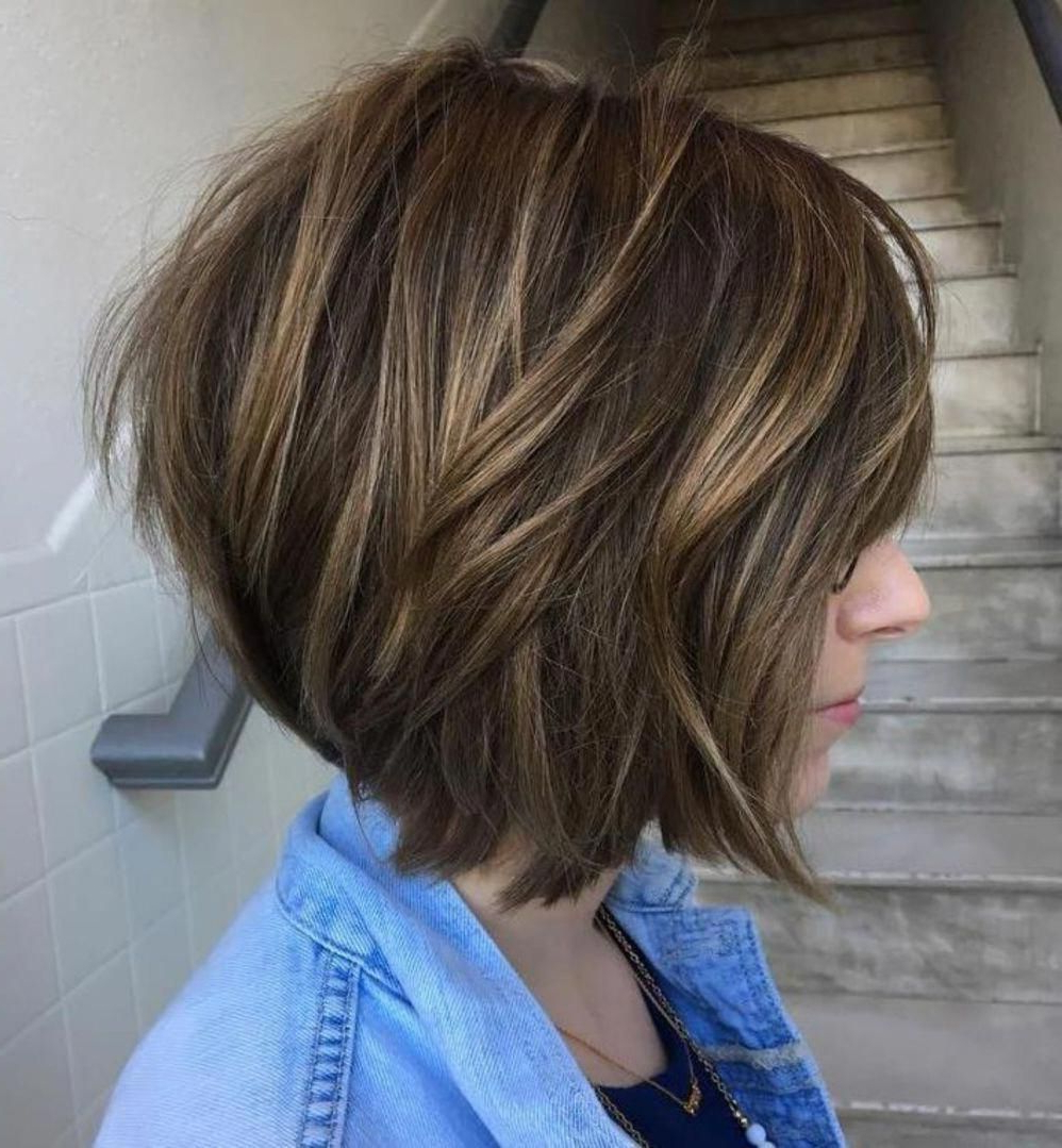 Disconnected Bob With Subtle Highlights # In Favorite Disconnected Pixie Hairstyles (View 3 of 20)