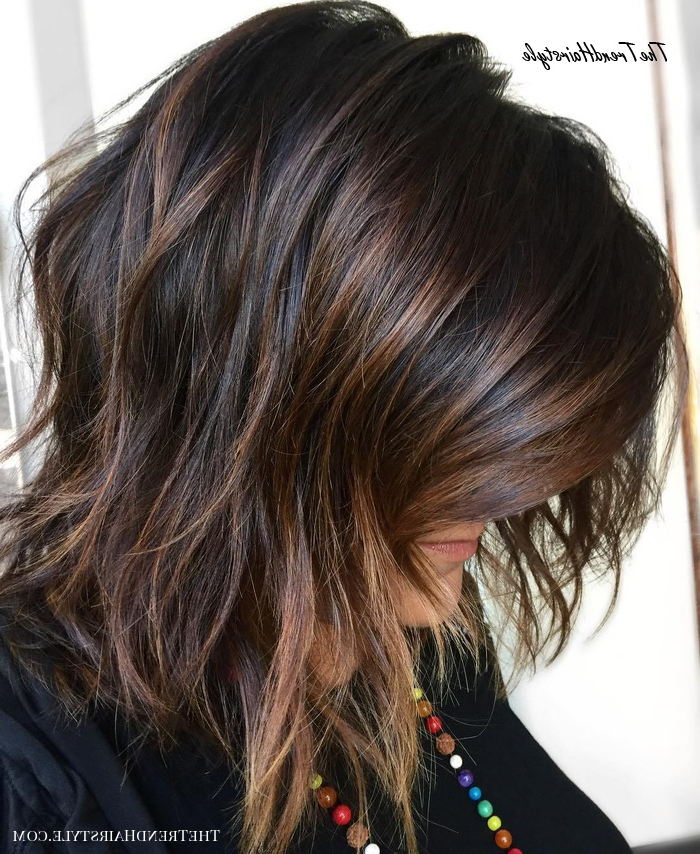 Espresso Base With Hazel Ribbons – 60 Chocolate Brown Hair Throughout Black Hairstyles With Brown Highlights (View 11 of 20)