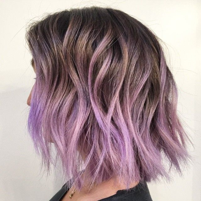 💜can't Stop Won't Stop 💜#everythingispurple #purple # In Lavender Balayage For Short A Line Haircuts (View 5 of 20)