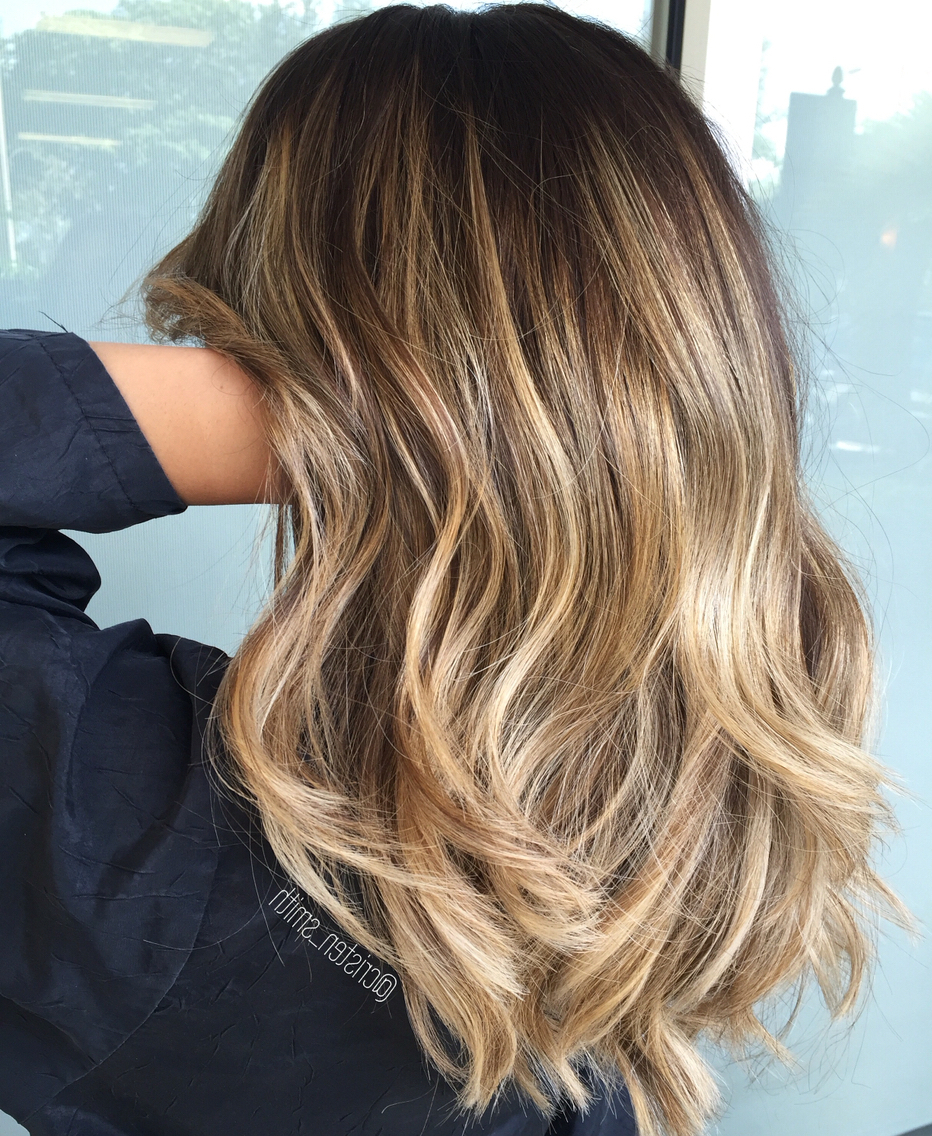 Fabulous Dark Hair With Blonde Highlights 2017 | Hairdrome With Regard To Blonde Balayage Hairstyles (View 11 of 20)