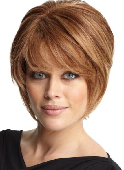Face Framing Fringes Short Haircuts For Fine Hair In Well Liked Full Fringe And Face Framing Layers Hairstyles (View 5 of 20)