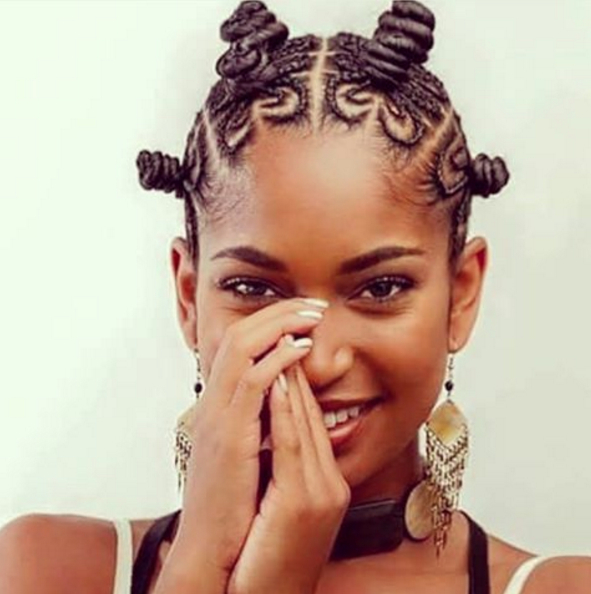 Famous Bantu Knots Hairstyles For Pin On Hair (View 14 of 20)
