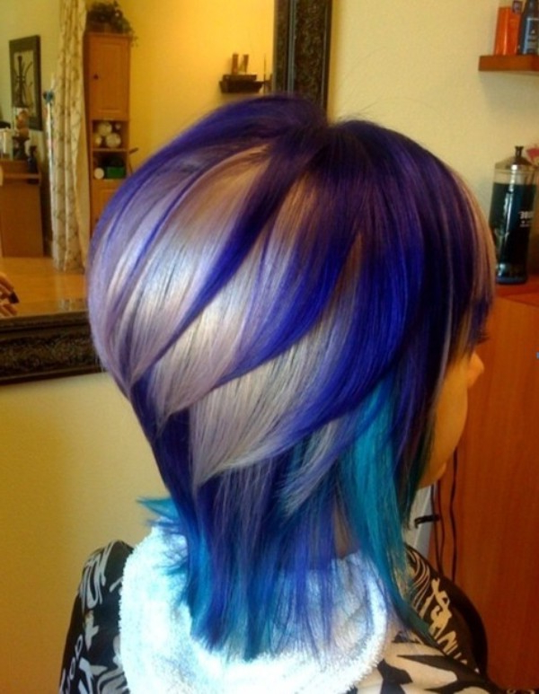 Famous Short Hairstyles With Blue Highlights And Undercut Within 35 Best Balayage Highlights On Short Hair – Pictures (View 17 of 20)