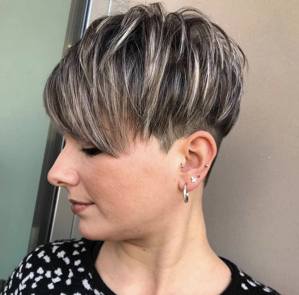 Famous Undercut Pixie Hairstyles With Hair Tattoo With Latest Short Pixie Cut Hairstyles  (View 11 of 20)