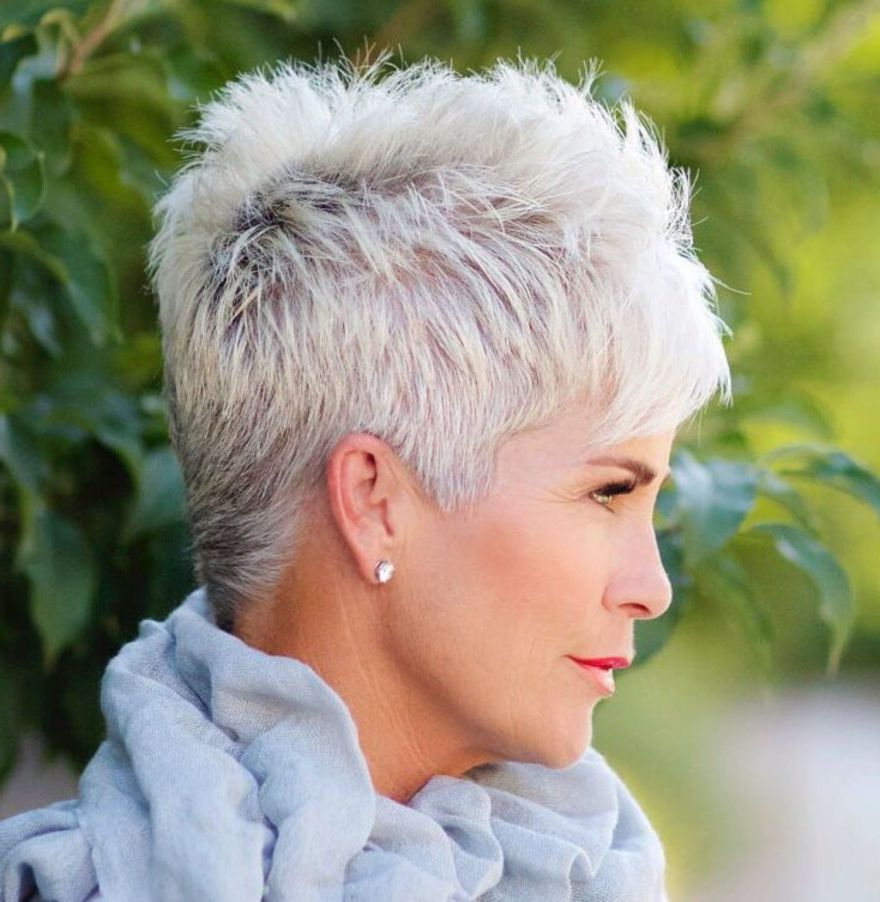 Fashionable Gray Short Pixie Cuts In Gray Pixie For Thick Hair (View 4 of 20)