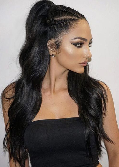 Fashionable Half Up Half Down Hairstyles With A Fringe Within Pin On Cute Hair Styles (View 5 of 20)
