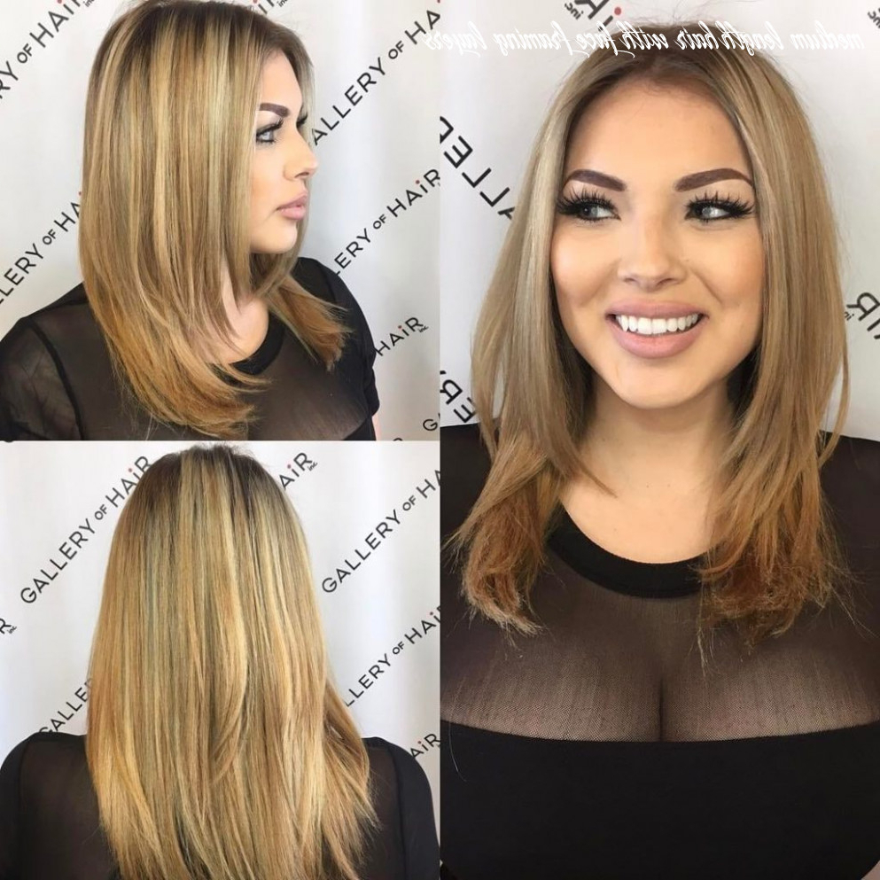 Fashionable Lob Hairstyles With Face Framing Layers With 8 Medium Length Hair With Face Framing Layers – Undercut (View 17 of 20)