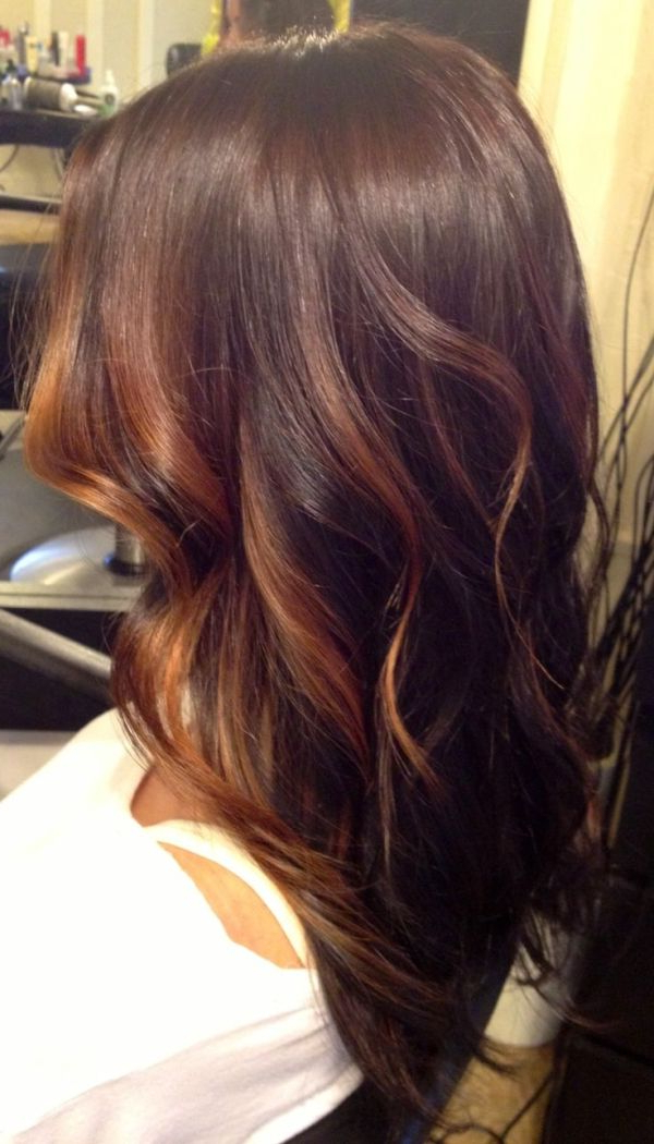 Fashionable Subtle Face Framing Layers Hairstyles Within Brunette And Caramel Face Framing Balayage Highlights Over (View 11 of 20)