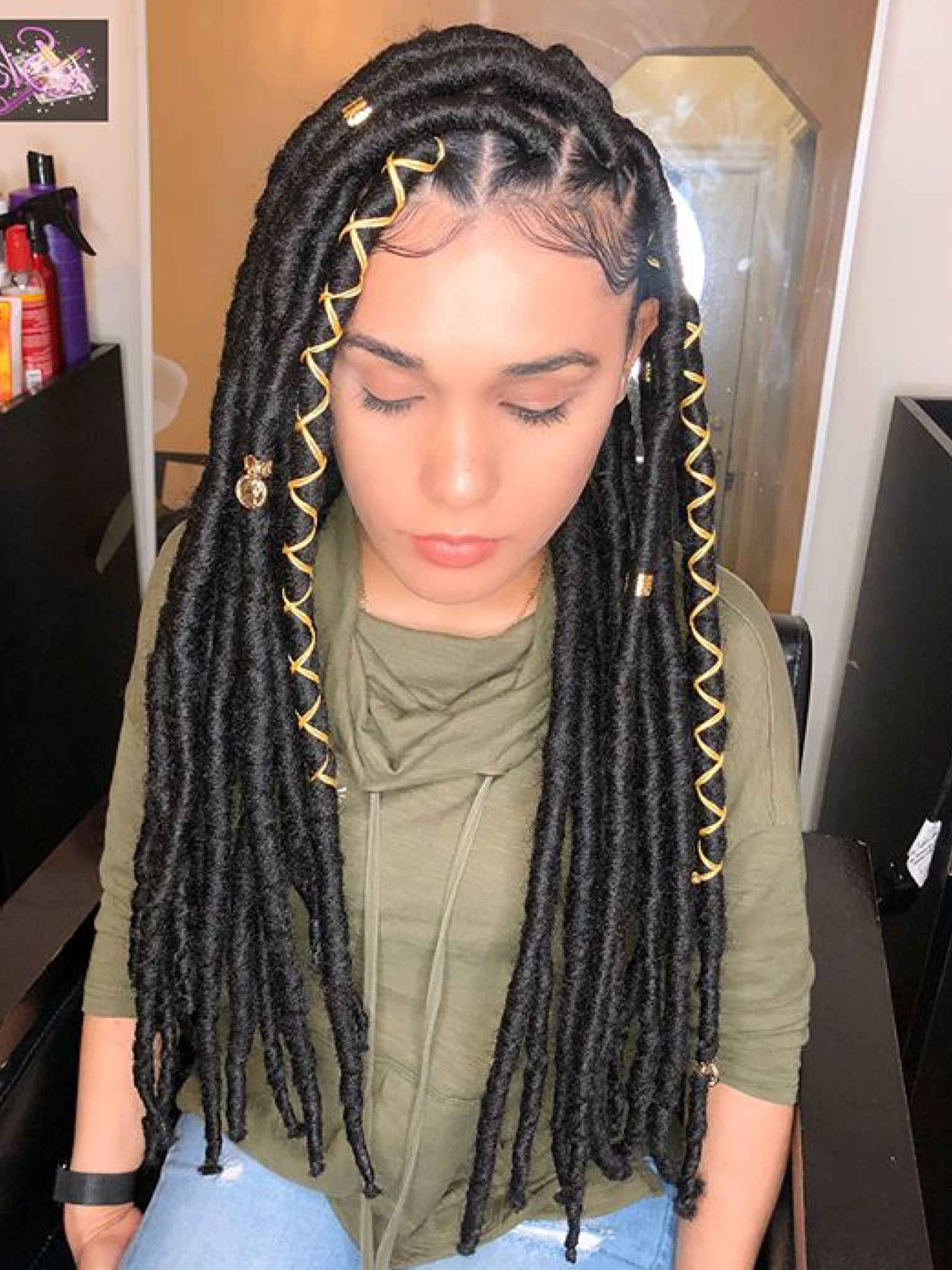 Faux Locs Hairstyles, Locs Intended For Recent Pins And Beads Hairstyles (View 15 of 20)