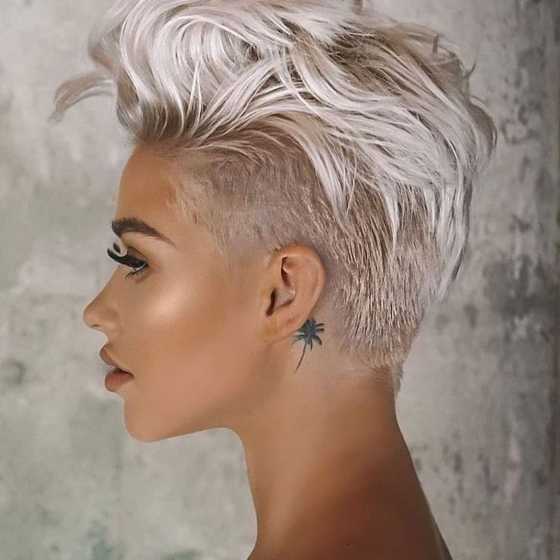 Favorite Undercut Pixie Hairstyles With Hair Tattoo Intended For 50 Cute Short Pixie Haircuts And Pixie Cut Hairstyles (View 5 of 20)