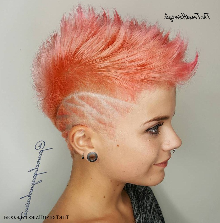 Feminine Pixie Cut With Asymmetrical Undercut – 20 Throughout Popular Sleek Coif Hairstyles With Double Sided Undercut (View 4 of 20)