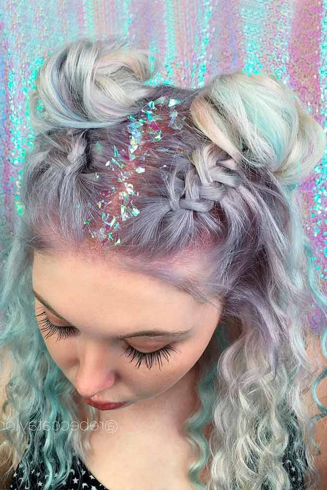 Festival Hair Regarding Best And Newest Rave Buns Hairstyles (View 7 of 20)