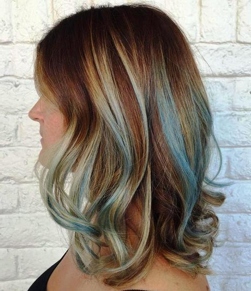 Gimme The Blues: Bold Blue Highlight Hairstyles For Most Current Short Hairstyles With Blue Highlights And Undercut (View 14 of 20)