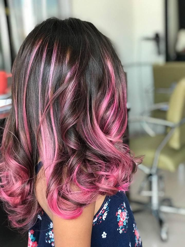 Girl Pink Balayage   Hair, Long Hair Styles, Hairstyle Inside Pixie Hairstyles With Red And Blonde Balayage (View 4 of 20)