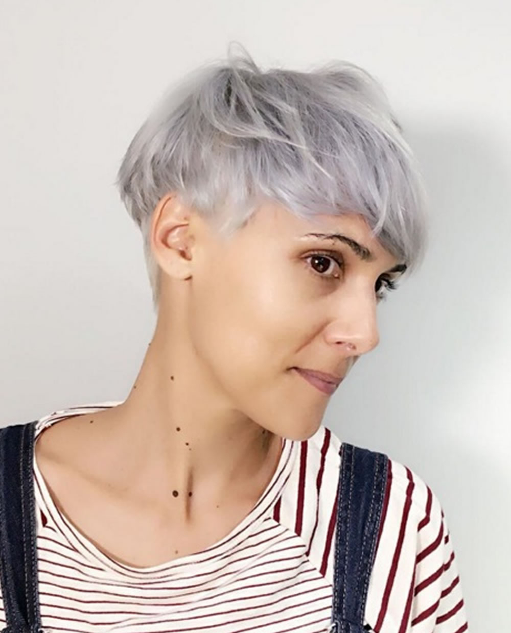 Grey Pixie Hair Cut & Gray Hair Colors For Short Hair 2018 Pertaining To Recent Gray Short Pixie Cuts (View 6 of 20)