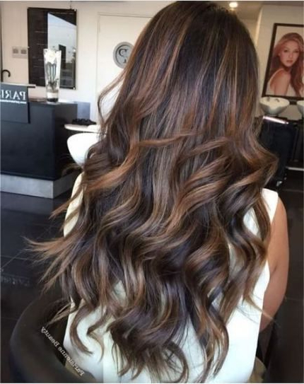 Hair Brunette Balayage Beach Waves 32+ New Ideas   Long Pertaining To Beachy Waves Hairstyles With Balayage Ombre (View 8 of 20)