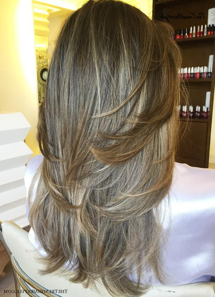 Heavily Layered Face Framing Strands – 80 Cute Layered Inside Shaggy Bob Hairstyles With Face Framing Highlights (View 15 of 20)