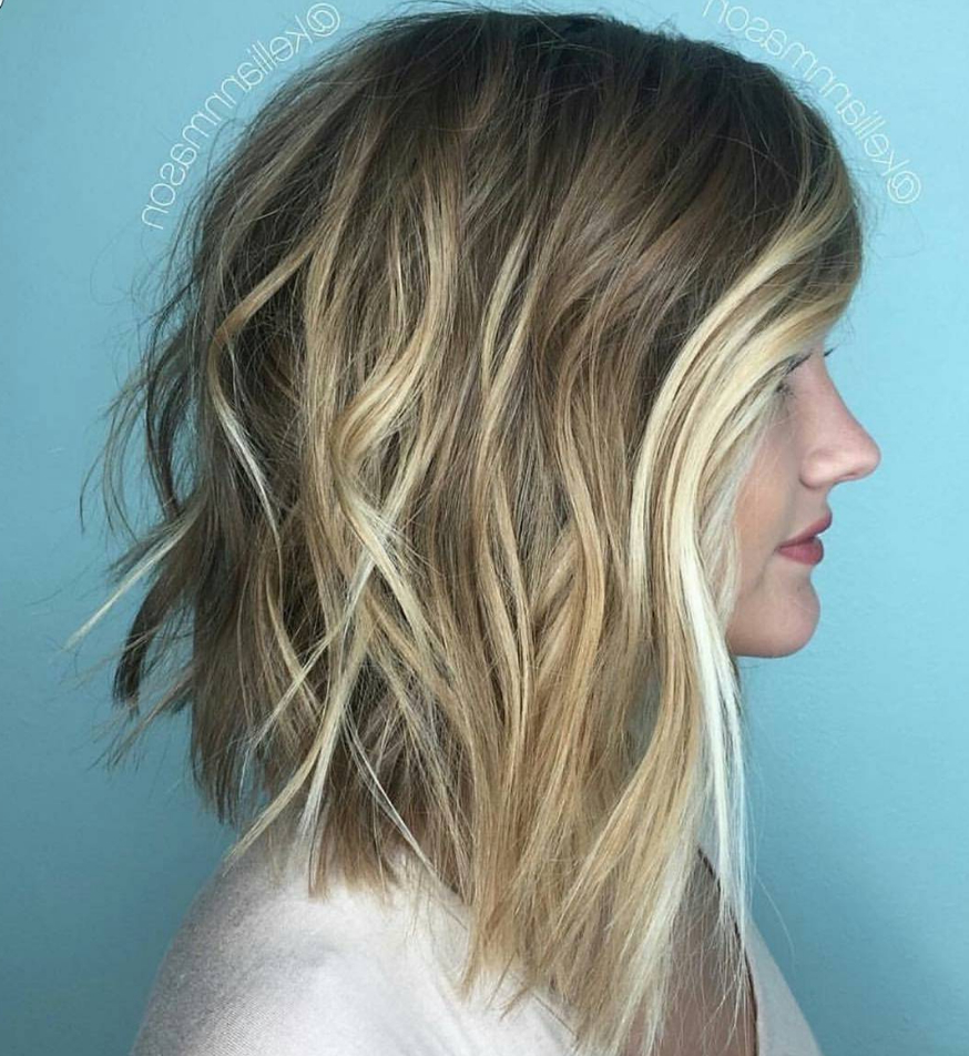 How To: Blunt Lob + Blonde Balayage – Behindthechair Intended For Shaggy Bob Hairstyles With Blonde Balayage (View 3 of 20)