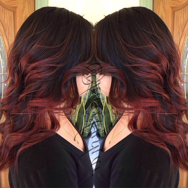 I Actually Love This   Red Balayage Hair, Hair Styles Regarding Burgundy Balayage On Dark Hairstyles (View 14 of 20)