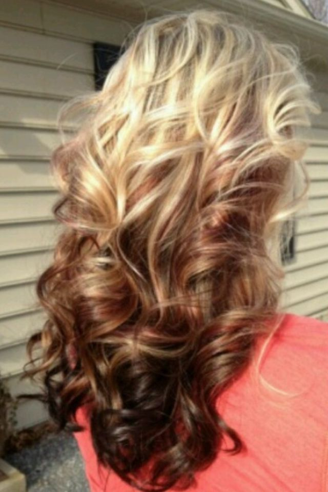 I Want This But Inverted With Blonde On The Bottom And The Inside Brown Blonde Sweeps Of Color Hairstyles (View 3 of 20)