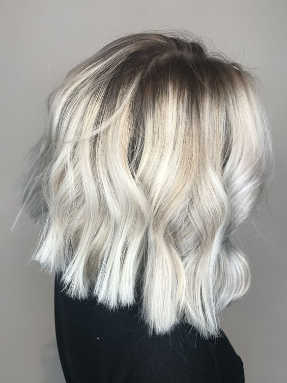 Icy Blonde Hair Color Ideas With Regard To Blonde Balayage Hairstyles On Short Hair (View 13 of 20)