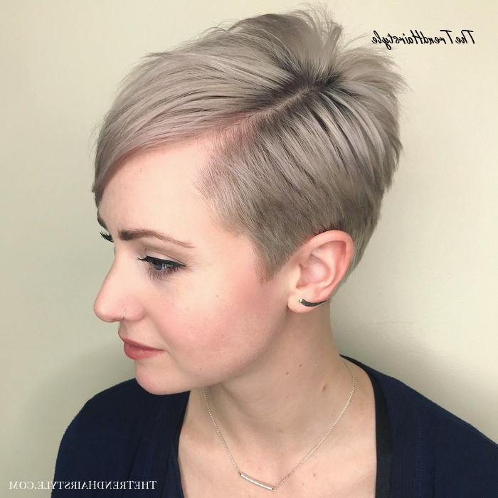 Icy Short Pixie Cut – 60 Cute Short Pixie Haircuts Intended For Famous Tapered Pixie Hairstyles With Extreme Undercut (View 4 of 20)