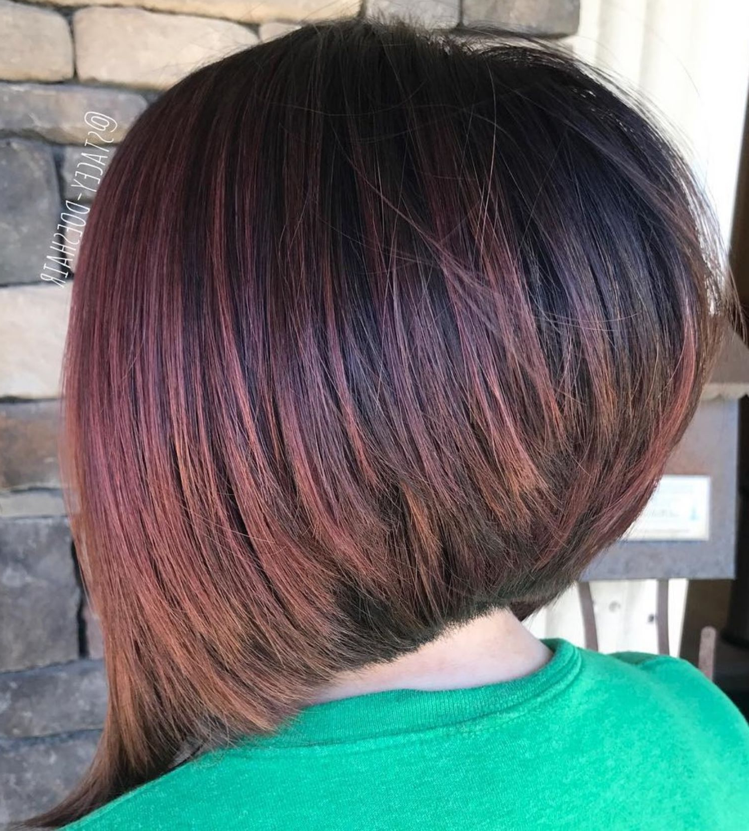 Inverted Angled Bob For Straight Hair   Thick Hair Styles In Bronde Balayage For Short Layered Haircuts (View 6 of 20)