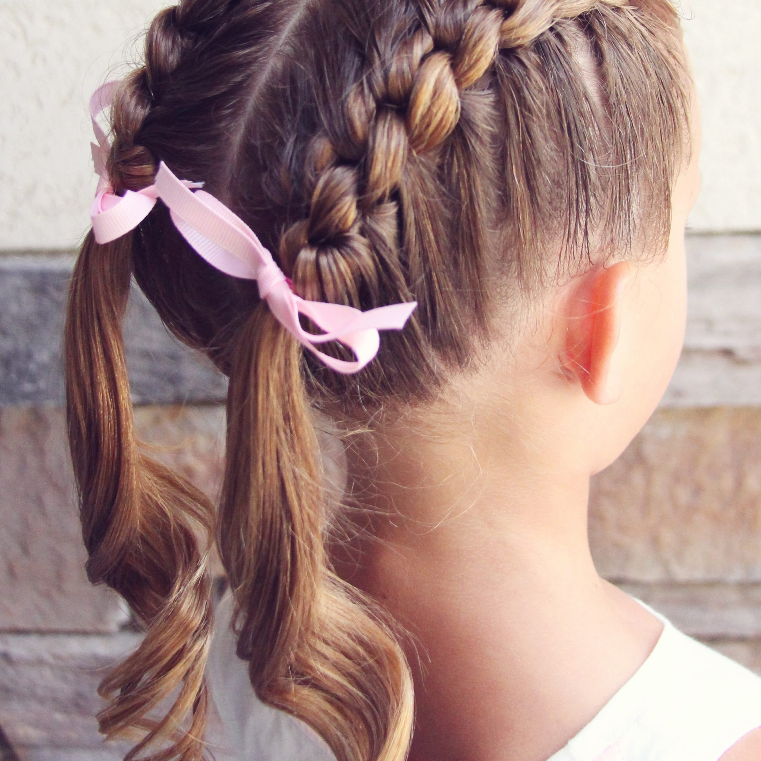 Knotted French Braid Pigtails Regarding Current Pigtails Hairstyles (View 9 of 20)