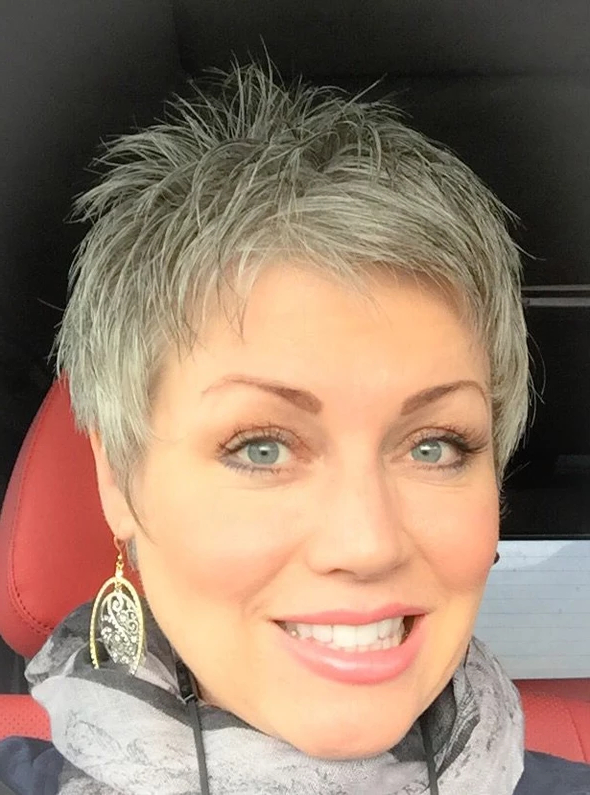 Latest Gray Short Pixie Cuts Intended For Gray Lace Frontal Wigs Eyebrow White Hair Treatment In (View 14 of 20)