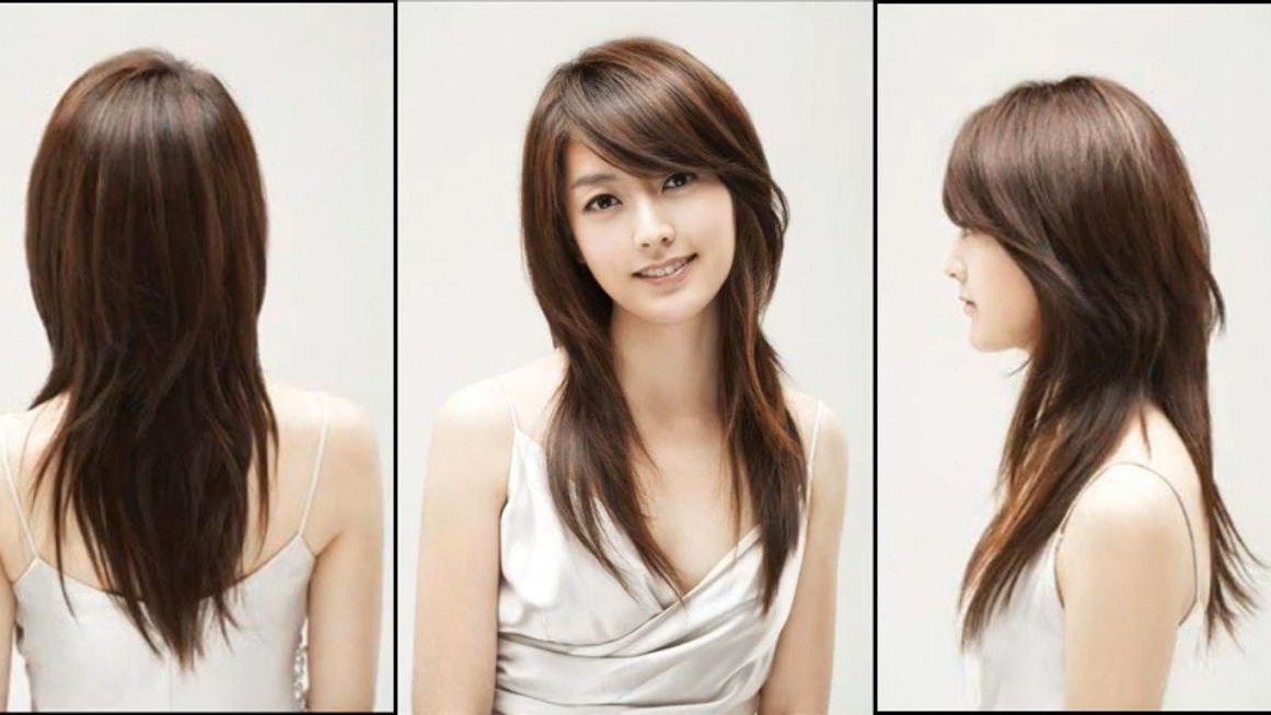 Layered Hairstyles With Side Swept Bangs For Round Faces With Well Known Side Swept Face Framing Layers Hairstyles (View 6 of 20)
