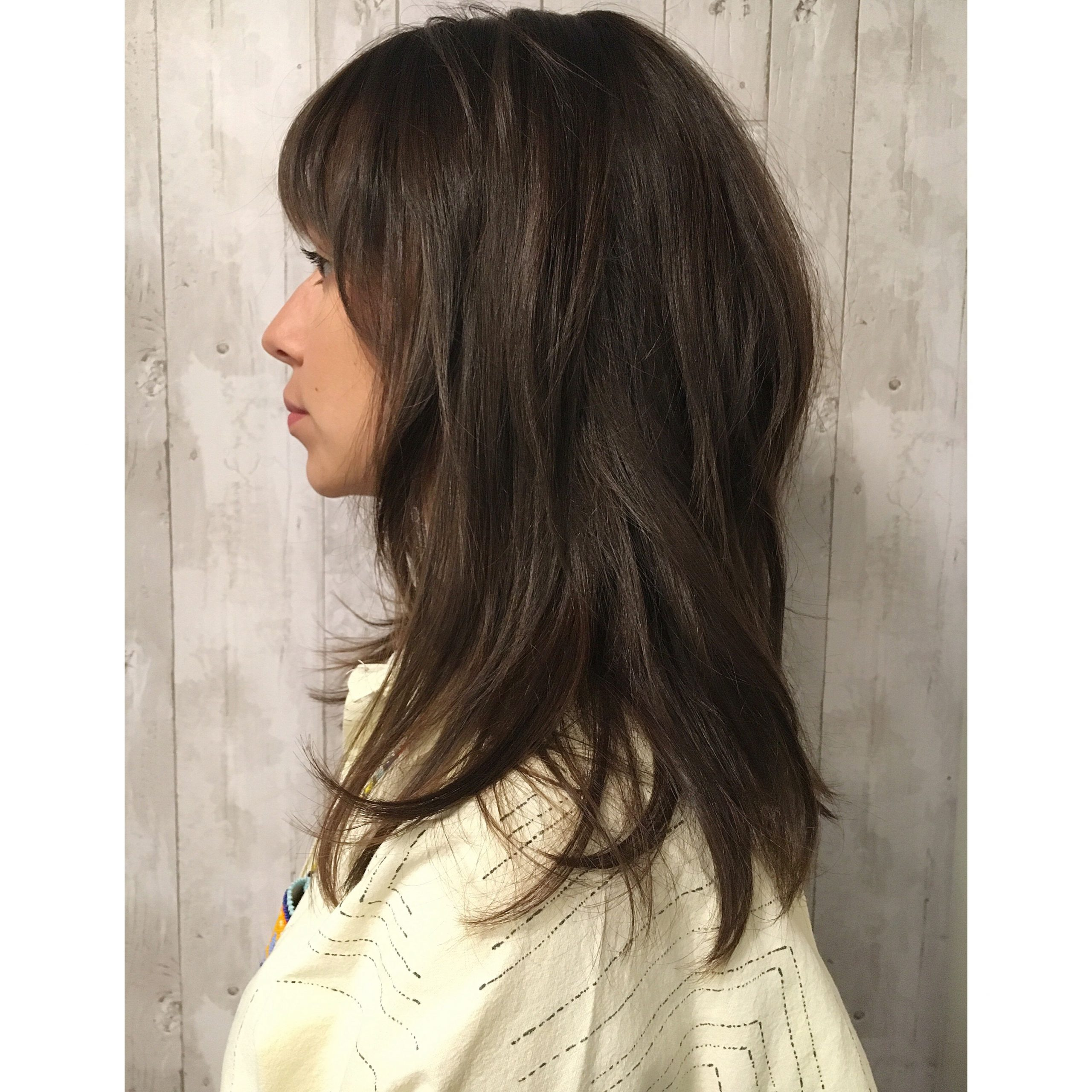 Long Hair Styles Regarding Best And Newest Textured Haircuts With A Fringe And Face Framing (View 5 of 20)