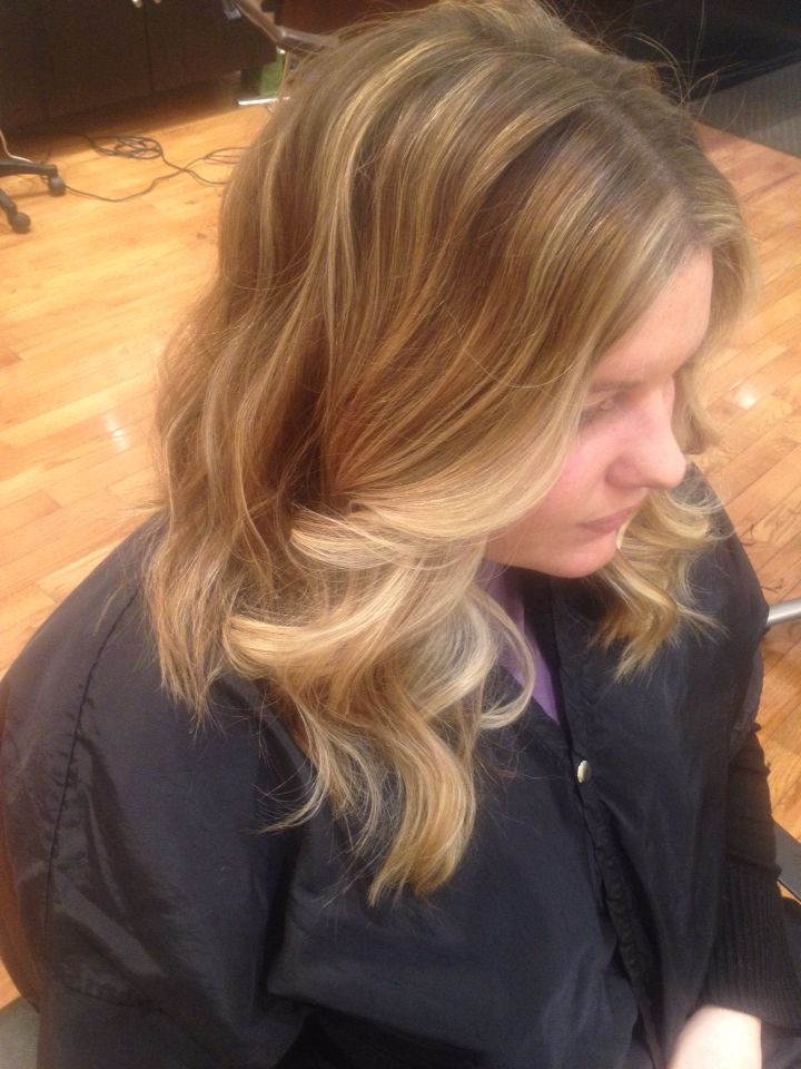 Long Layered Haircut With Warm/cool Tones Of Blonde Regarding Newest Layered Ringlets Hairstyles (View 16 of 20)